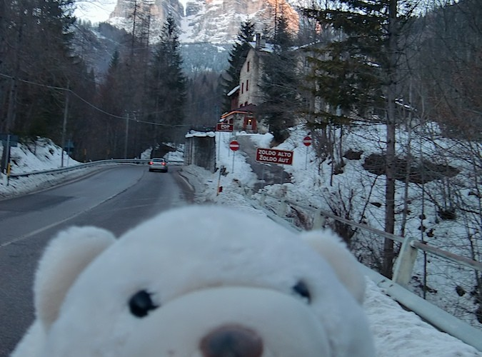 Floppie at the Dolomites