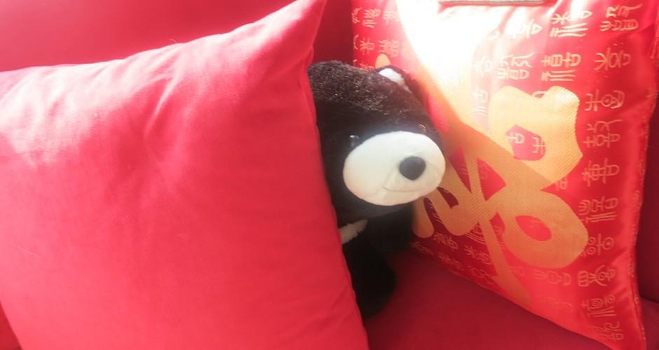 Between cushions