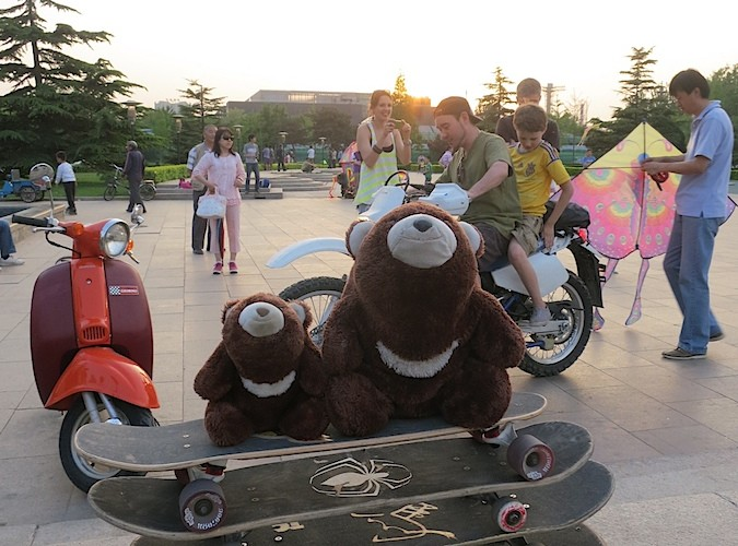 skateboarding again